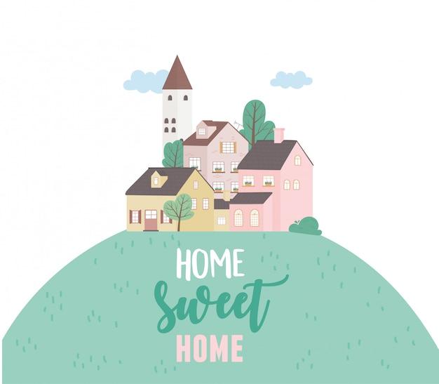 Strona główna słodki dom, domy mieszkalne architektura miejska sąsiedztwo ulicy