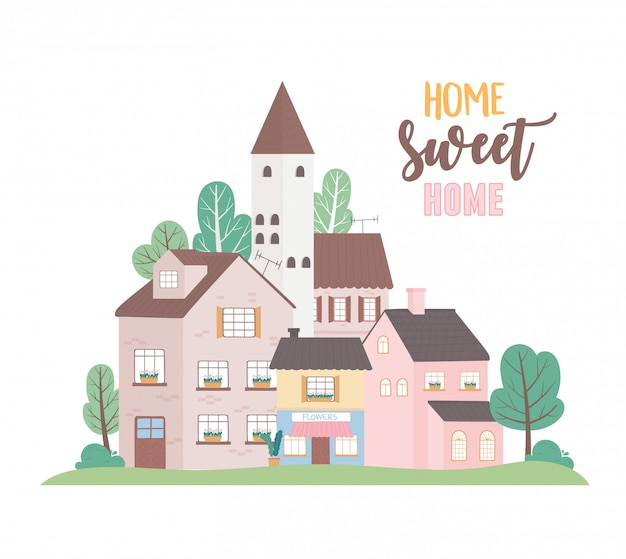 Strona główna słodki dom, domy mieszkalne komercyjne architektura miejska sąsiedztwo ulicy