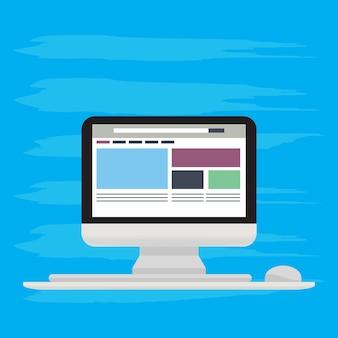 Strona internetowa biznes koncepcja płaski styl i izometryczny