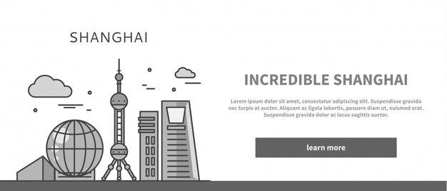 Strona internetowa chińskie miasto niesamowitego szanghaju