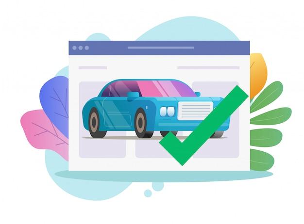 Strona internetowa kontroli bezpieczeństwa monitorowania diagnostycznego pojazdu