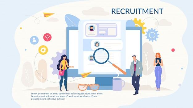 Strona internetowa projektu rekrutacji do usługi wynajmu