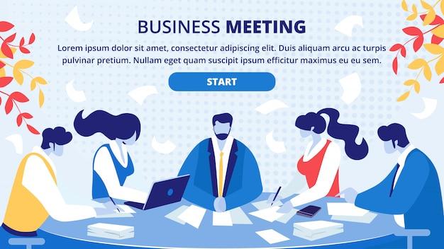 Strona internetowa spotkania partnerów biznesowych