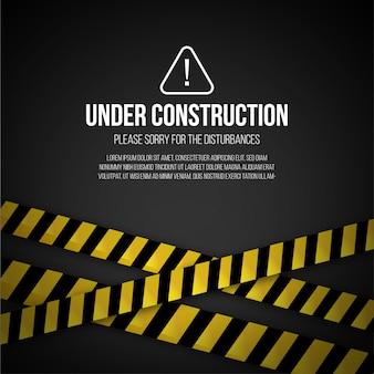 Strona internetowa w tle budowy