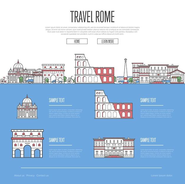 Strona internetowa wakacyjnych podróży rzymu