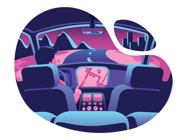 Strona internetowa wnętrza samochodu