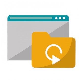 Strona internetowa z technologią folderów