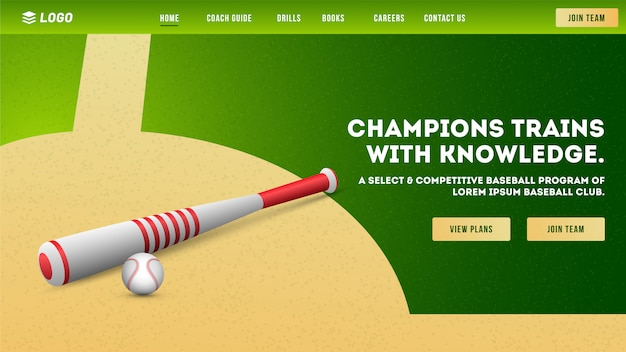 Strona klubu baseballowego.