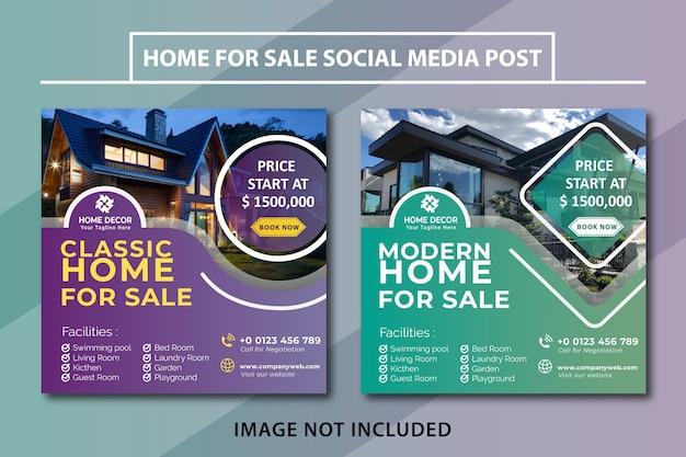 Strona na sprzedaż post w mediach społecznościowych