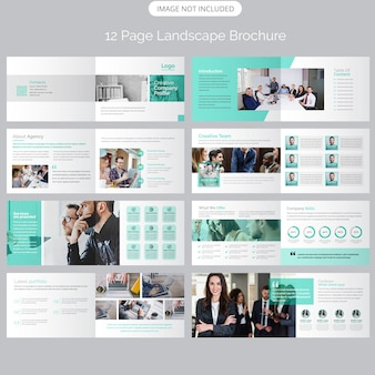 Strona pejzaż profil firmy prospekty reklamowe