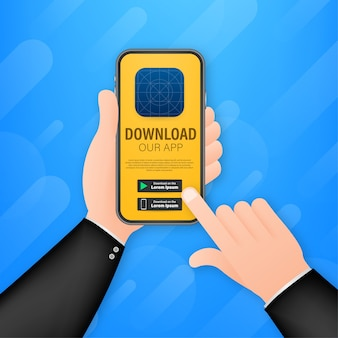 Strona pobierania ilustracji aplikacji mobilnej