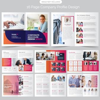 Strona profil firmy projekt broszury