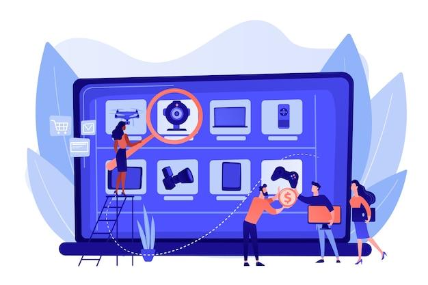 Strona sklepu internetowego z używaną i odnowioną elektroniką