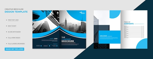 Strona tytułowa creative company broszura design