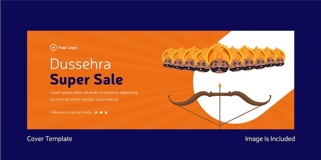 Strona tytułowa indyjskiego festiwalu dasera super szablon sprzedaży