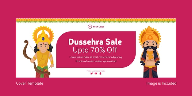Strona tytułowa szablonu sprzedaży indyjskiego festiwalu dasera