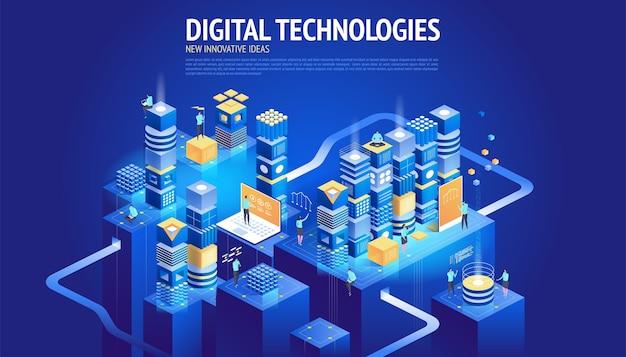 Stronie internetowej . nowe innowacyjne pomysły. technologie cyfrowe.