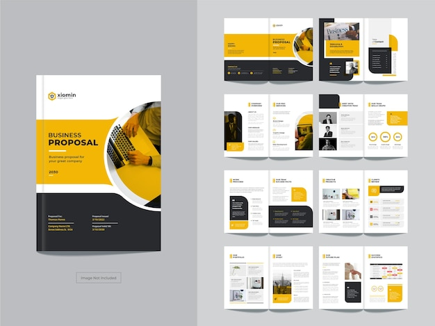 Strony firmowe broszury biznesowe szablon projektu