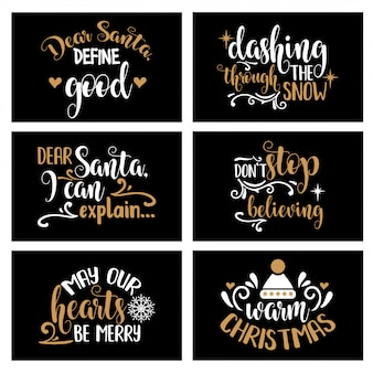 Strony napis kolekcja kartki świąteczne z radosnych cytatów