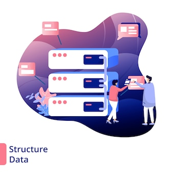 Struktura danych ilustracja nowoczesny styl