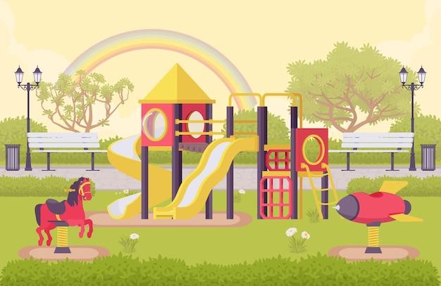 Struktura zewnętrzna placu zabaw