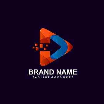 Strzałka i piksel z logo ikony gry