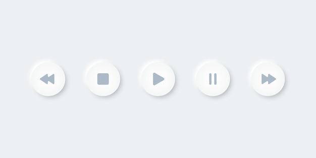Strzałka ikona odtwarzania multimediów, symbol sieci web, ilustracja