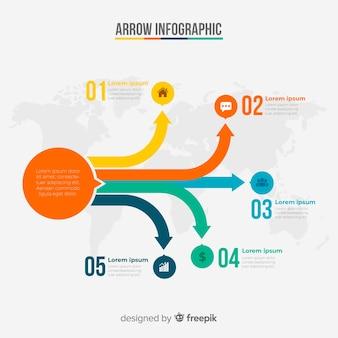 Strzałka infografika