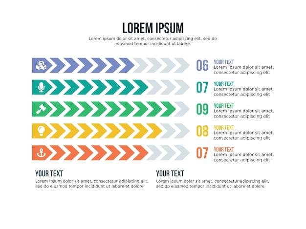 Strzałka infographic element i szablon prezentacji