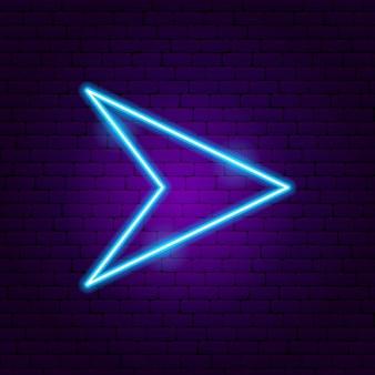 Strzałka neon 6. ilustracja wektorowa promocji kierunku.