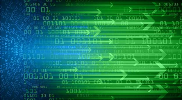 Strzałka obwód cyber przyszłości koncepcja technologii tło
