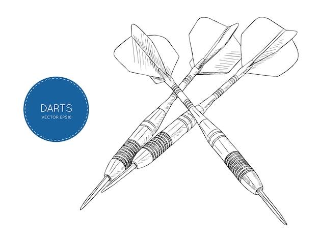 Strzałka rzutki wektor ilustracja
