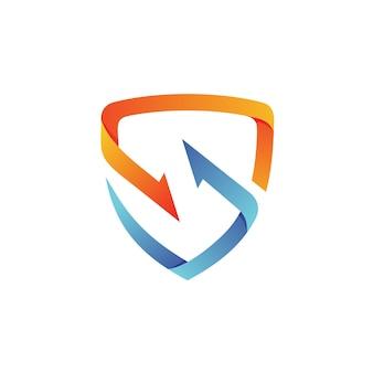 Strzałka tarcza logo wektor