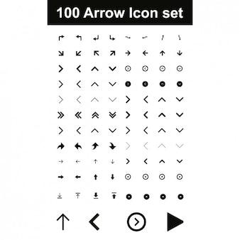 Strzałka zestaw ikon