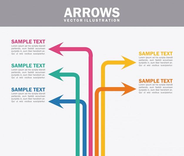 Strzałki infografiki