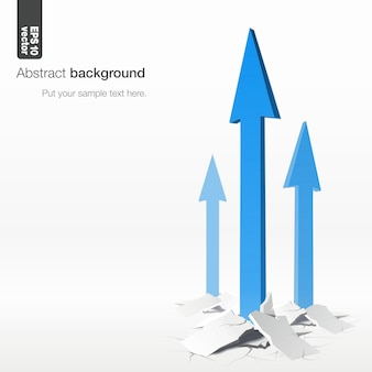Strzałki - koncepcja wzrostu. ilustracja na białym tle.