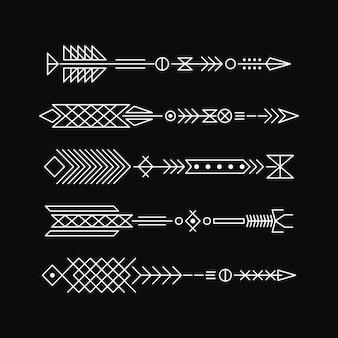 Strzały hipster. projektowanie elementów abstrakcyjnych