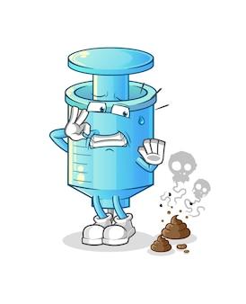 Strzykawka ze śmierdzącymi odpadami