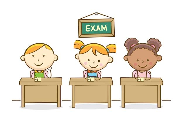 Studenci piśmie egzaminu