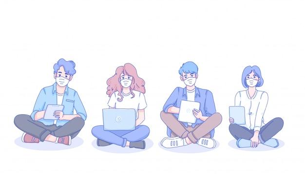 Studenci z nowym normalnym życiem