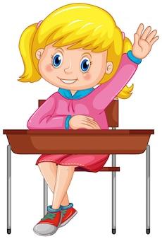 Student siedzi na krześle
