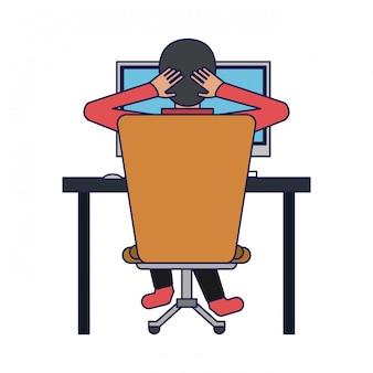Student z komputerem