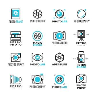Studio fotograficzne logo vintage dla fotografa