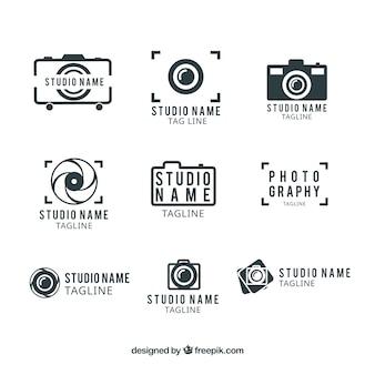 Studio fotografii szablon logo