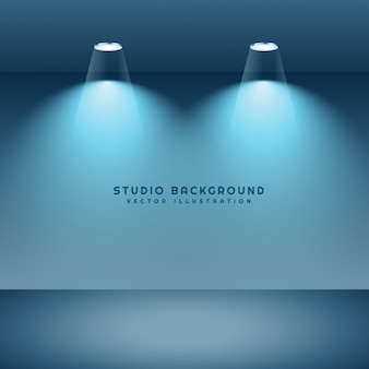 Studio tło z dwóch świateł punktowych