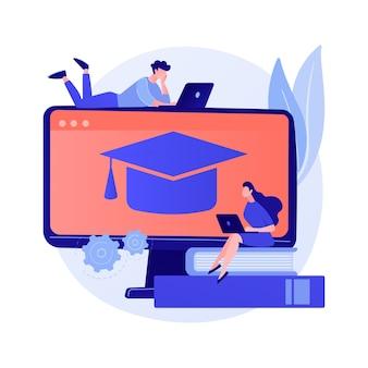 Studiowanie teorii kolorów online. podstawy projektowania stron internetowych, tutorial rysunkowy, projektant wnętrz. kobieta artysta kreskówka trzymając ołówek