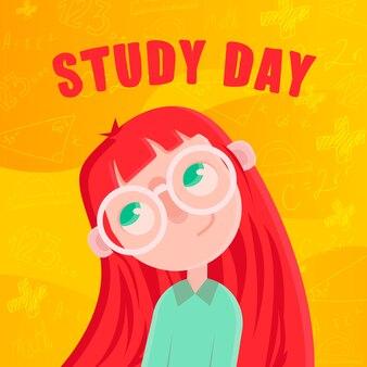 Studiuj postać dziewczyny z dnia