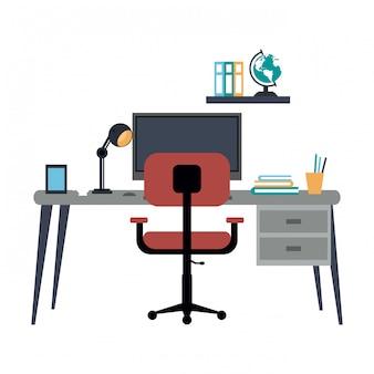 Studium pokoju biurowego