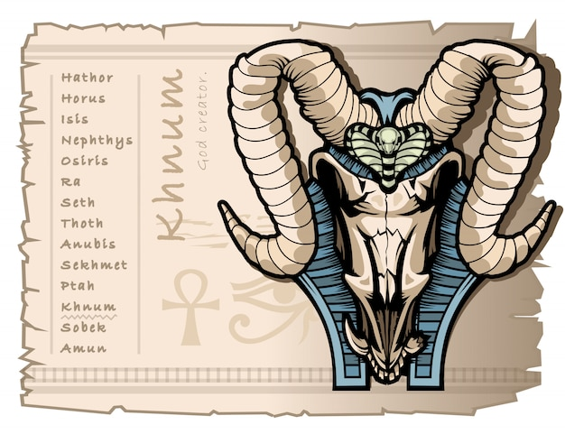 Stwórca bogów khna w starożytnym egipcie