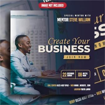 Stwórz swój biznesowy baner internetowy z postem w mediach społecznościowych